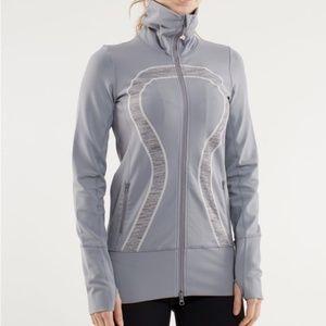 Lululemon Grey Stride Zip Up Workout Jacket